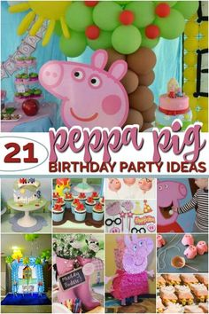 peppa pig birthday party ideas Party like Peppa Pig with these 21 fabulous Peppa Pig birthday party ideas. You can create a festive atmosphere with great decoration ideas, including free Peppa Pig party printables, an idea for a Peppa Pig Invitacion Peppa Pig, Cumple Peppa Pig, 3rd Birthday Party For Girls, Birthday Party Decorations, Fabulous Birthday, Fourth Birthday, Party Printables, Peppa Pig Printables, Free
