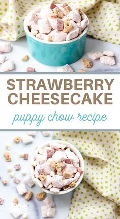 Dump Cake Recipes, Cereal Recipes, Easy Cookie Recipes, Best Dessert Recipes, Fun Desserts, Chex Recipes, Cheesecake Mix, Strawberry Cheesecake, Strawberry Recipes