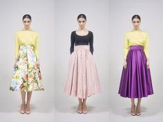 Las faldas fifties nos transportan al Hollywood más glamouroso de los años 50