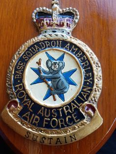 RAAF Base Amberley shield. Ipswich Queensland.