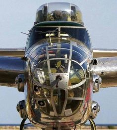 Front on shot of Mitchell B-25