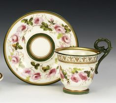 William Billingsley was obsessed with making the whitest, most translucent, china to paint on. He started with 21 years at Derby, inventing a new way to paint realistic flowers. He set up Pinxton, which went bust. For a while he had to paint on brought in blanks and fire in a kiln in his back yard in Mansfield. Then he set up Nantgarw and Swansea where he developed his body recipies, creating beautiful forms 'in the white' which were the most sought after by London painters of the t