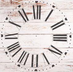 Farmhouse Clock Stencil - WallMasque Stencil Company