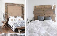 Decoración de dormitorios con cabeceros de madera - Decofilia.com