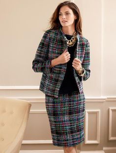 Talbots - Colorful Tweed Straight Skirt | Skirts | Apparel