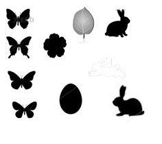 simbolos da pascoa no Brasil: Ovos, coelhos, borboletas, flor de quaresmeira e folha de caquizeiro