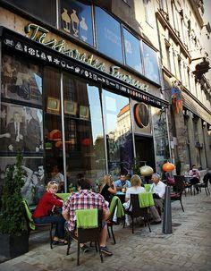 Retro café in Budapest, Hungary
