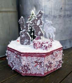 Mitt Lille Papirverksted: Christmas Carols in the Snow
