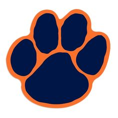 Tiger Paw Print Clipart - Clipart Suggest Auburn Tigers, Auburn Logo, Auburn Shirts, Auburn Football, Clemson, Auburn Wreath, Paw Print Art, Paw Prints, Tiger Crafts