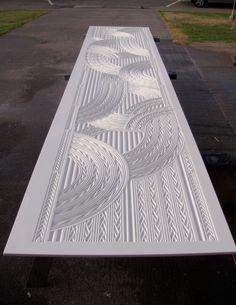 CNC carving on Corian 3000 x 760mm CarveX Jacob Scott