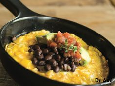 This southwestern omelet recipe is delicious! It's full of protein, fiber and great flavor! Try this fun twist on your morning eggs today!