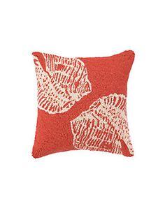 Peking Handicraft 'Orange Double Seashell' Decorative Pillow