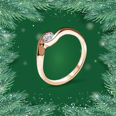 Make this festive season one of a kind with this charming #AGUAdeORO ring in a form of twist. 🌿 Branches, Festive, Seasons, Ring, How To Make, Diamond, Rings, Seasons Of The Year, Jewelry Rings