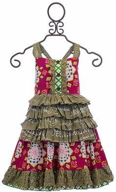 Mustard Pie Regan Apron Girls Spring Dress
