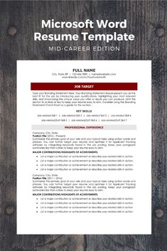 Top 12 Tips for Writing a Great Resume Microsoft Word Resume Template, Modern Resume Template, Resume Templates, Cv Template, Job Resume Examples, Resume Tips, Cv Tips, Resume Help, Cv Guide