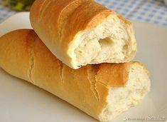 Bagietka francuska - przepis Hot Dog Buns, Hot Dogs, Menu, Bread, Food, Menu Board Design, Brot, Essen, Baking