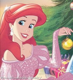 christmas, ariel, and disney image Disney Pixar, Ariel Disney, Walt Disney, Disney Princess Art, Disney Little Mermaids, Mermaids And Mermen, Cute Disney, Disney And Dreamworks, Disney Girls