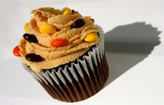Candy Bar Cupcakes: Snickers, Andes Mint (Minty Chocolate), M's, Hershey (S'mores), and Reese's Pieces