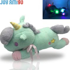 Cheap glow pillow, Buy Quality stuffed unicorn directly from China stuffed unicorn toy Suppliers: New Luminous Stuffed Unicorn Toy LED Light-Up Plush Doll Glow Pillow Auto Color Rotation Gift inch Birthday Gfit Stuffed Unicorn, Dinosaur Stuffed Animal, Plush Dolls, Light Up, Nativity, Glow, Pillows, Birthday, Gifts