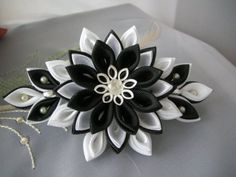 Канзаши пышный бант (мастер класс) / DIY Kanzashi - Pesquisa Google
