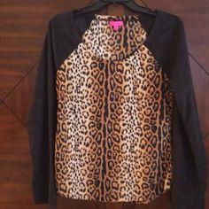 Soft & Lightweight Velour Top Never worn Betsey Johnson Tops
