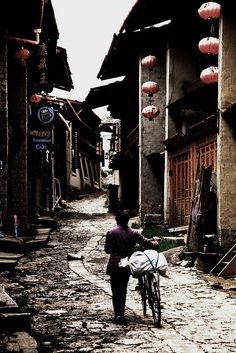 The old town of Zhongdian, Tibet