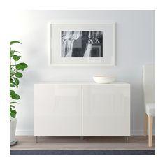 IKEA BESTA White, Selsviken/stallarp High-Gloss/white Storage combination with doors Furniture Logo, Cheap Furniture, Urban Furniture, Royal Furniture, Furniture Removal, Furniture Design, Soft Closing Hinges, Unique Sofas, Frame Shelf