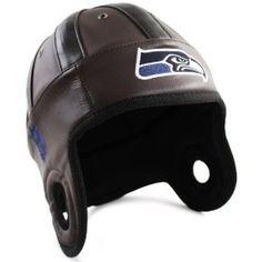 NFL Seattle Seahawks Faux Leather Helmet Head (Brown)