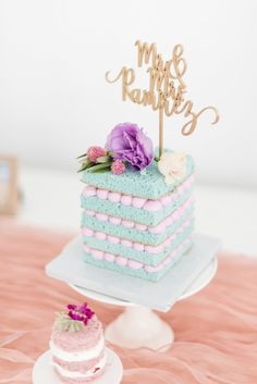 Cute cake idea for a girls birthday party Sweet Cakes, Cute Cakes, Pretty Cakes, Yummy Cakes, Beautiful Cakes, Amazing Cakes, Colorful Birthday Cake, Cake Birthday, Small Birthday Cakes