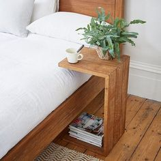 Sumatra Over Arm Side Table- Sumatra Over Arm Side Table Our Sumatra side tables are handmade by artisans from rustic reclaimed teak in Indonesia. Diy Furniture Table, Simple Furniture, Repurposed Furniture, Bedroom Furniture, Home Furniture, Furniture Design, Bedroom Decor, Timber Furniture, Coaster Furniture