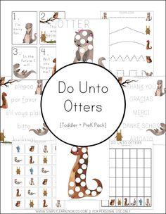 Free Do Unto Otters Printables
