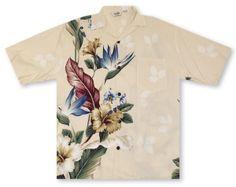 Hilo Hattie Cream Men's Shirt http://www.alohashirtshop.com/products/2429/paradise-bay-by-hilo-hattie-hibiscus-paradise-mens-shirt.php