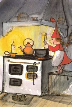 Postcard travelled km miles) in 6 days (from Finland to France): Virpi Pekkala card! Christmas Illustration, Cute Illustration, Art Magique, Scandinavian Christmas, Whimsical Art, Christmas Elf, Christmas Pictures, Gnomes, Cute Art