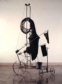 "Tadeusz Kantor art, ""The Trumpet of the Last Judgement"", 1979 Scenography Theatre, Architecture 101, Artistic Installation, Constructivism, Exhibition Display, Steampunk, Stage Design, Sculpture Art, Abstract Art"