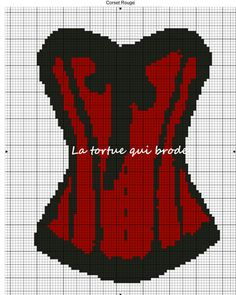 point de croix corset , cross stitch woman