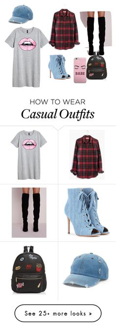 """""""Casual shopping"""" by isabellar12 on Polyvore featuring Madewell, Gianvito Rossi, Ollie & B and Mudd"""
