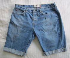 Levi's 515 Cuffed Stretch Denim Bermuda Shorts Womens Size 16 #Levis #BermudaWalking