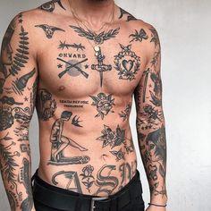 Abdomen Tattoo, Torso Tattoos, Sleeve Tattoos, Men Arm Tattoos, Men With Tattoos, Men Tattoo Sleeves, Best Forearm Tattoos, Tattoos For Guys Badass, Back Tattoos For Guys