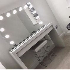 Hollywood Mirror | Makeup Mirror with Lights | Dressing Table Mirror with Lights | Vanity Mirror with Lights | Illuminated Makeup Mirror | Holllywood Mirror UK | Light Up Makeup Mirror | Hollywood Mirrors | Mirror Size 70 X 100cm | Exude movie star allure with our popular large beauty mirror with lights around it. Your vanity table will be transformed with the glittering luminosity of our amazing illuminated make up mirror. #hollywoodmirror #makeupmirror #vanitymirror #dressingtable