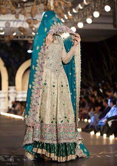 Pakistani Bridal Wear Pinned by Zartashia