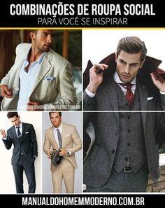 Combinações de roupas social para te inspirar.