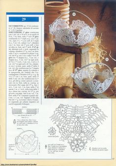 "Photo from album ""Prestigio collana: Bomboniere Inamidate - on Yandex. Crochet Vase, Crochet Pouch, Thread Crochet, Crochet Motif, Crochet Designs, Crochet Crafts, Crochet Doilies, Crochet Patterns, Crochet Diagram"