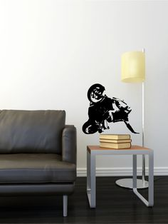 Chopper Bike Wall Sticker Either Build From Scratch Or From The - Sporting wall decals