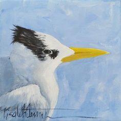 "Daily Paintworks -  ""90 - Tern for the better""  Original Fine Art for Sale © Lisa Whitener♥🌸♥"