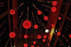 Red Lights at night -