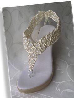 Sandalias Bohemian de la boda sandalias de la cuerda