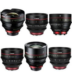 Canon EF Cinema Prime Lens Kit (14, 24, 35, 50, 85, 135mm)