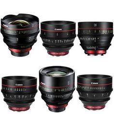 Canon EF Cinema Prime Lens Kit (14, 24, 35, 50, 85, 135mm) $27,240.00