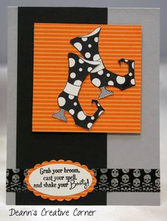 Witch Boots Girlfriend handmade card - Stampin' Up - Shake Your Booty on Etsy, $3.25