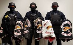 Found on Bing from www.dailymail.co.uk Motorcycle Clubs, Motorcycle Jacket, Hells Angels, Biker Patches, Photo S, Police, 1, Australia, Jacket Men